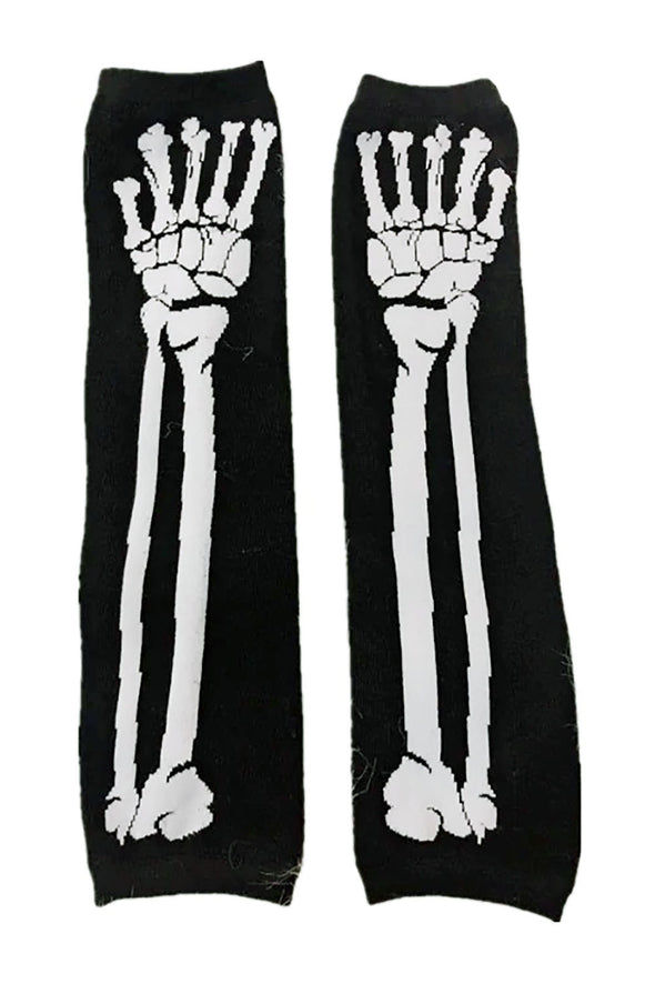 Skeleton Arm Warmers [White]