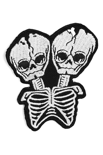 punk goth fetal skeletons iron on patch