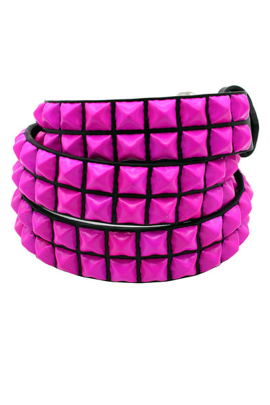 Punk Drunk Love Pyramid Stud Belt [Hot Pink]