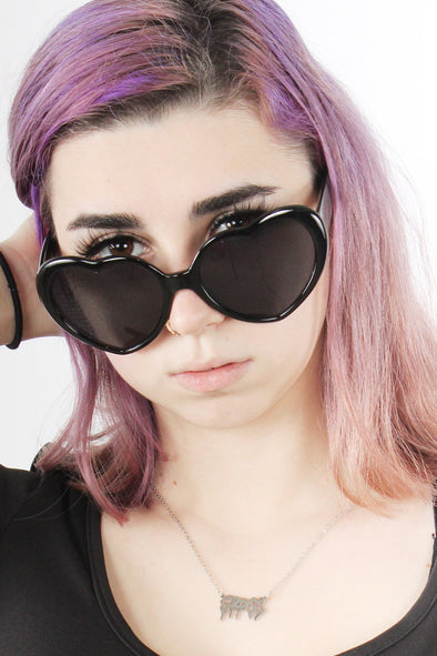 Heart-Vision Sunglasses [Black]