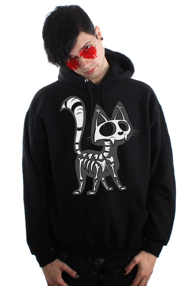 Skelekitty Hoodie [Zipper or Pullover]