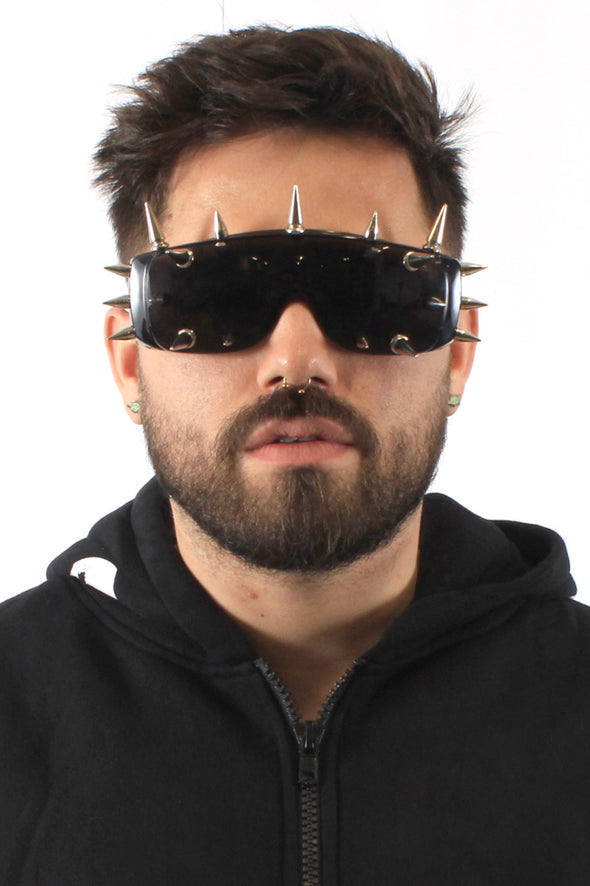 Spiked Shield Sunglasses