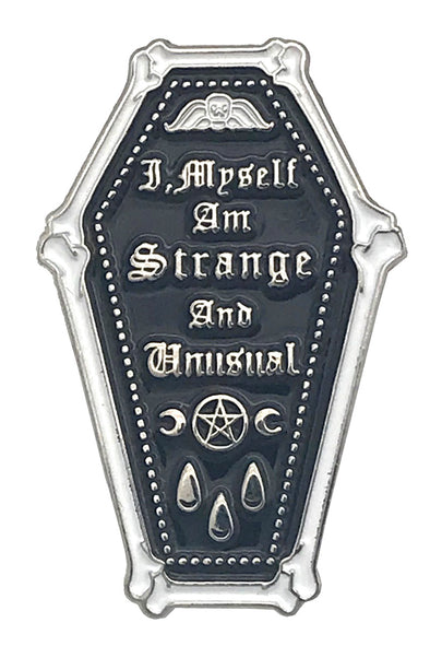Strange & Unusual Coffin Enamel Pin