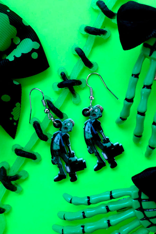 Zombie Business Earrings