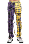 mens purple and yellow pants