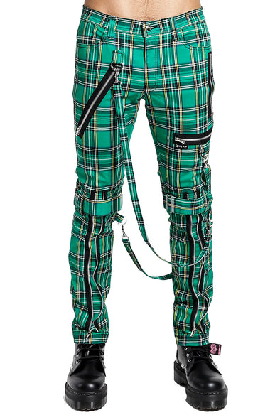 Tripp Green Plaid Bondage Pants - Vampirefreaks Store