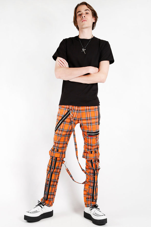Mens Orange Punk Pants