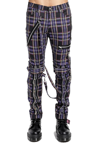 Tripp Purple Plaid Bondage Pants