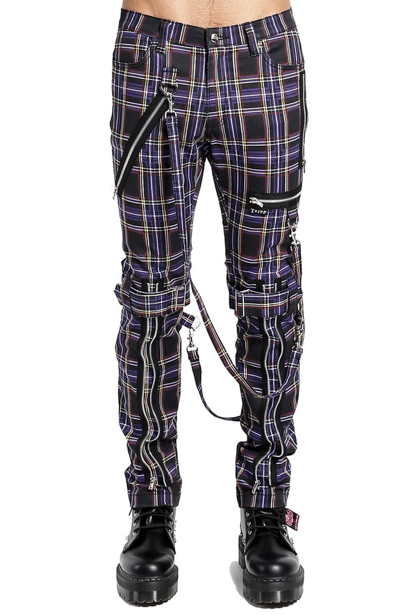 Tripp Purple Plaid Bondage Pants - Vampirefreaks Store