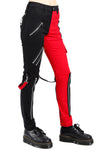 Tripp Ladies Split Leg Bondage pants (Black / Red) - Vampirefreaks Store