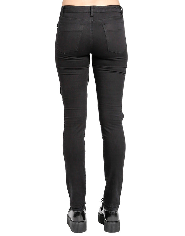 Tripp NYC Knee Cut Out Lace Up Pants - Vampirefreaks Store
