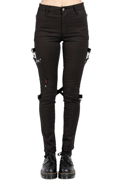 Tripp Ladies Chaos Bondage Pants [Black] - Vampirefreaks Store
