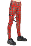 Tripp Ladies Chaos Bondage Pants [Red Plaid] - Vampirefreaks Store