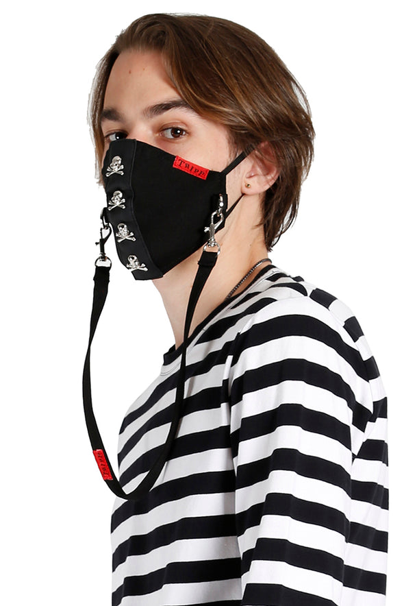 Tripp Skull Studs Face Mask [Black]