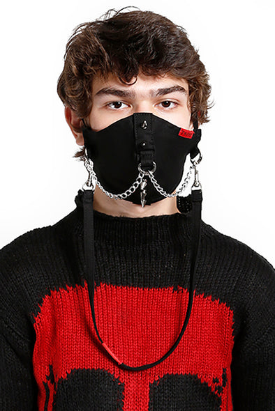 Tripp Spike & Chain Face Mask [Black]