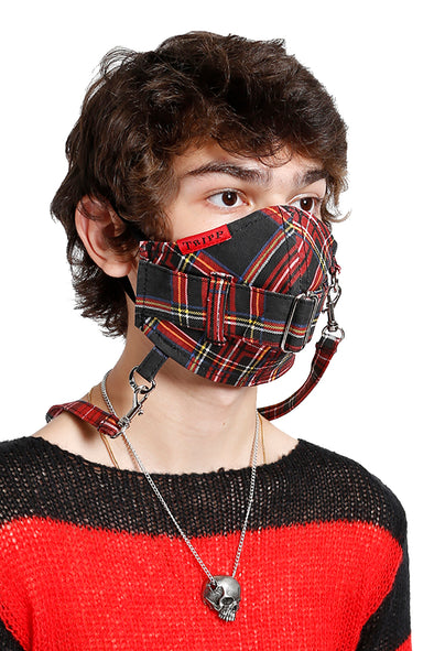 Tripp Super Straps Face Mask [Black Plaid]