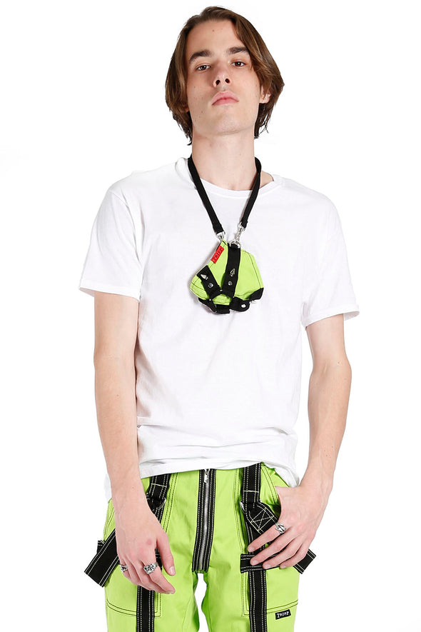 Harness Strap Face Mask [Lime Green/Black]
