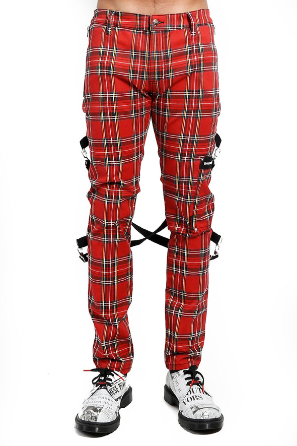 Tripp Plaid Chaos Pants (Red) - Vampirefreaks Store