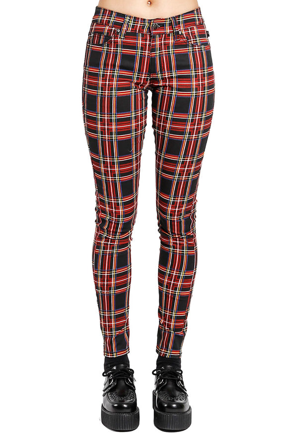 Tripp Ladies Black Plaid Pants - Vampirefreaks Store
