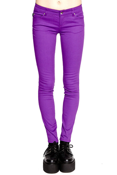 Tripp Ladies Purple T-Back Jeans