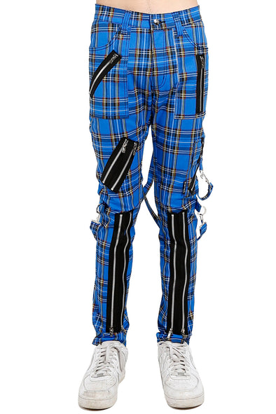 Tripp Classic Slim Leg Bondage Pants [Blue Plaid]