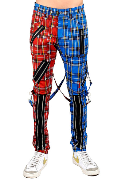 Tripp Madness Pants [Blue/Red Plaid]