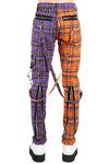 Mens Punk Plaid Pants