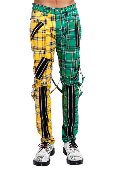 Tripp Madness Pants [Yellow/Green Plaid]