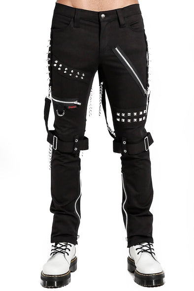 Tripp Studded Bondage Pants [Black]