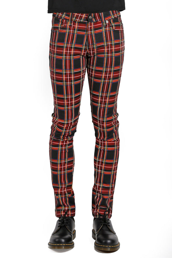 Tripp Black Plaid Rocker Pants