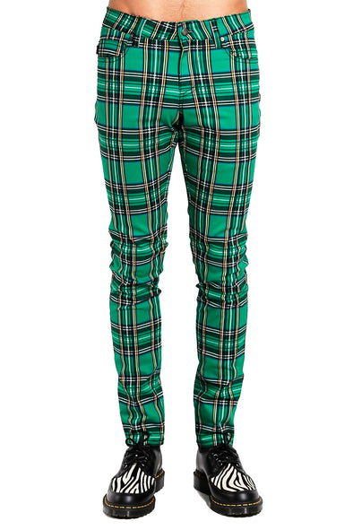 Tripp Green Plaid Rocker Jeans
