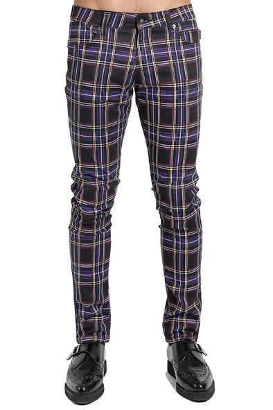 Tripp Purple Plaid Rocker Jeans