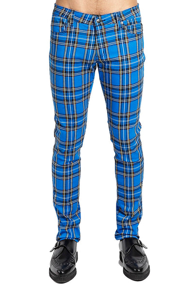 Tripp Royal Blue Plaid Jeans - Vampirefreaks Store