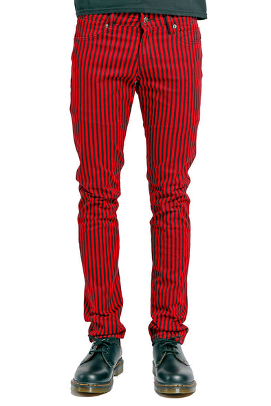 Tripp NYC Black/Red Striped Rocker Jeans - Vampirefreaks Store