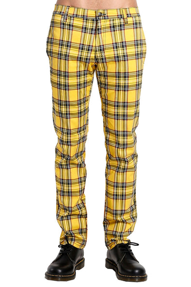 Tripp Yellow Plaid Top Cat Pants - Vampirefreaks Store