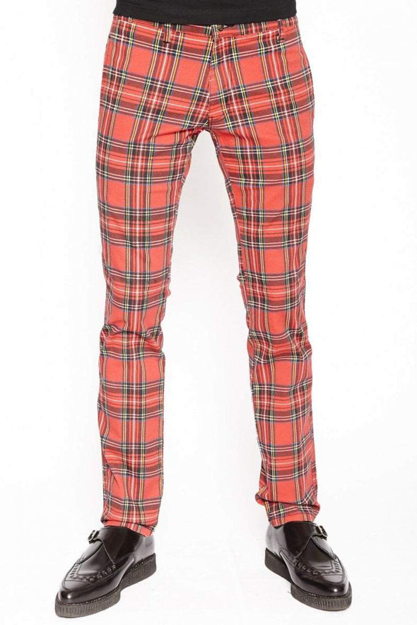 Tripp Red Tartan Plaid Pants