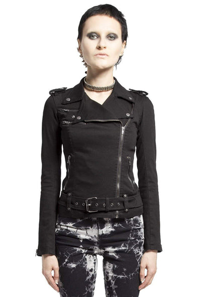 Tripp Ladies Wild Child Moto Jacket (Black) - Vampirefreaks Store