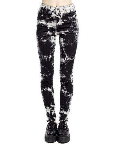 Tripp High Waist Black Cloud Tie Dye Pants