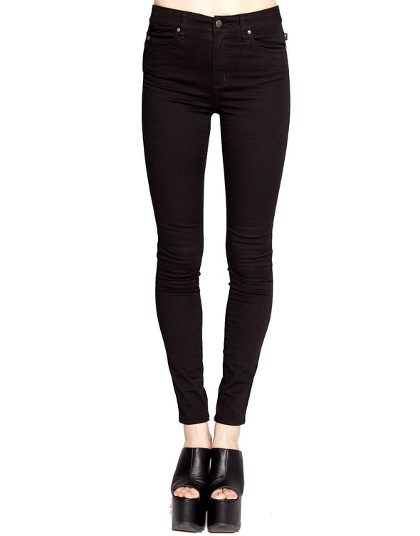Tripp High Waist Skinny Black Pants - Vampirefreaks Store