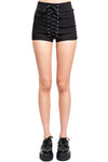 Tripp NYC High Waist Corset Shorts [Black] - Vampirefreaks Store
