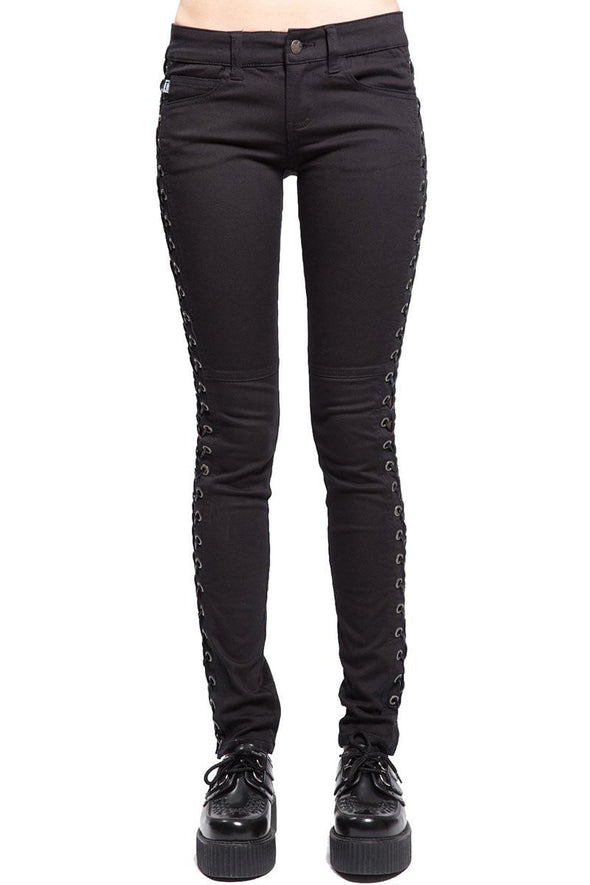 Tripp Side Lace up Jeans - Vampirefreaks Store