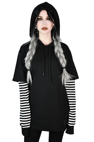 Jax Hooded Long Sleeve Top [White]