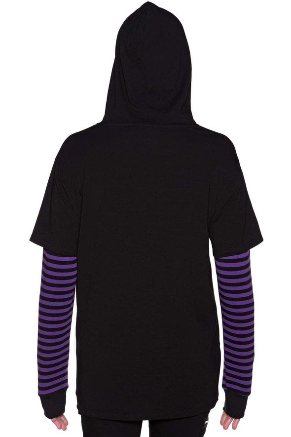Jax Hooded Long Sleeve Top [Plum]
