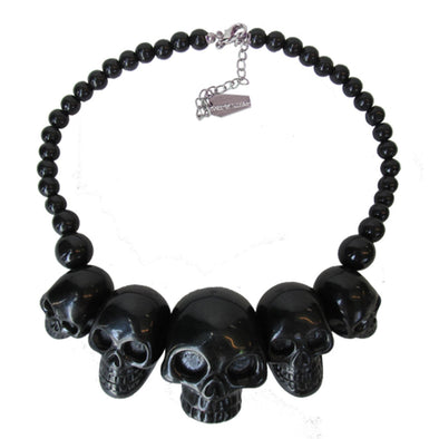 Kreepsville Skull Collection Necklace Black