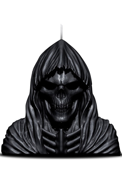 Grim Reaper Candle melts down to Skull Metal Sculpture - Vampirefreaks Store