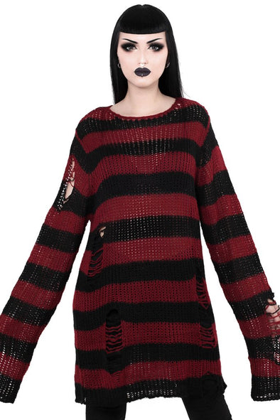 Killstar Krueger Knit Sweater - Vampirefreaks Store