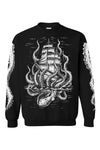 goth pirate ship sweatshirt