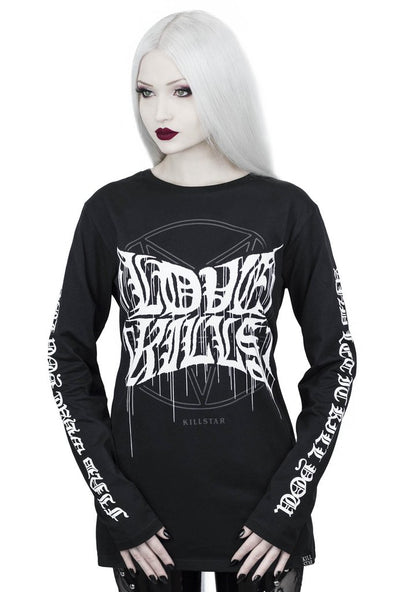 Killstar Love Kills Long Sleeve Top - Vampirefreaks Store