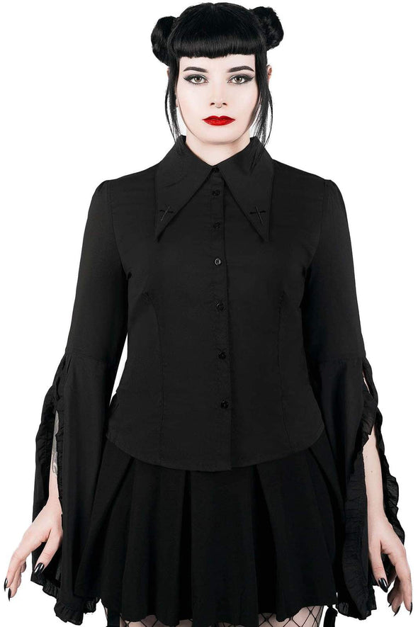 womens witch goth top