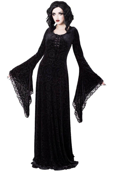 Killstar Mai Burnout Velvet Maxi Dress - Vampirefreaks Store